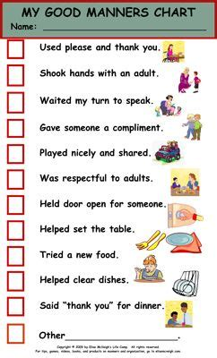 printable manners worksheets for preschoolers list of good table manners bing images etiquette