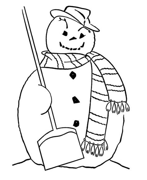snowman scarf coloring page coloring page of winter scarf kids coloring page gallery