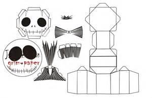Skellington Papercraft - printabl stencils on