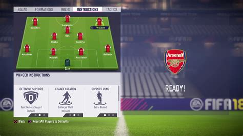 arsenal fifa 18 fifa 18 arsenal review best formation best tactics and