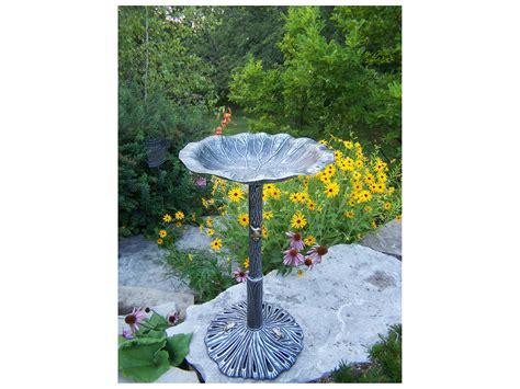 oakland living lily cast aluminum bird bath 5639 ap