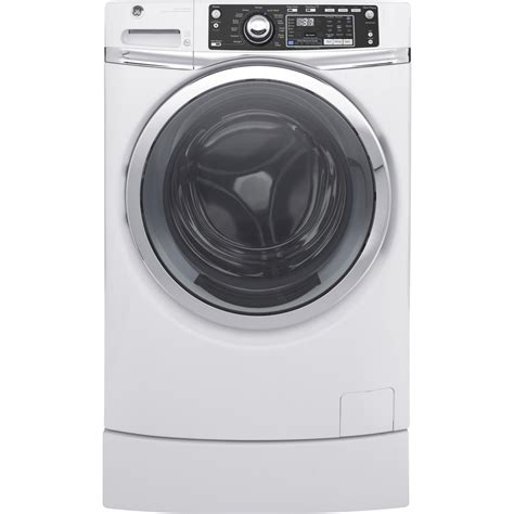 Ge Pedestal For Front Load Laundry ge 4 9 cu ft front load washer with steam in white