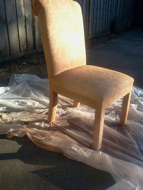 spray painting fabric furniture 17 best images about spray paint fabric chairs on