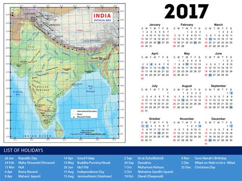 Indian Calendar India Calendar 2017