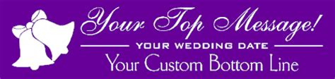 Wedding Bells Banner by Wedding Banners Personalized Wedding Ceremony Decorations