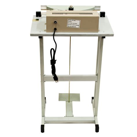 Pedal Impluse Sealer Metal Sealer Pedal Kaki Sf 400 16 quot foot pedal impulse sealer packaging heat seal machine