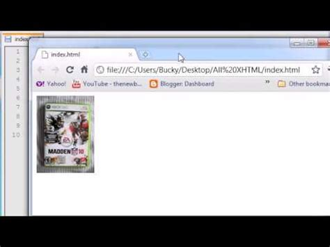 tutorial xhtml css xhtml and css tutorial 10 resizing images youtube