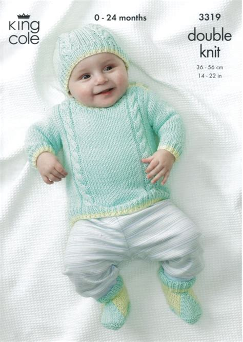 baby boy knitting patterns king cole boys own baby bamboo cotton dk knitting pattern 3319