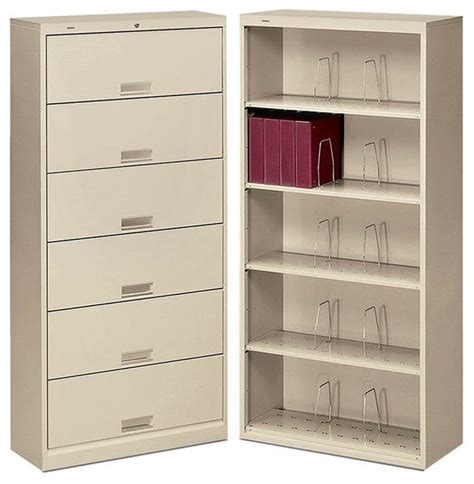 File Cabinet With Shelf by Hon Brigade 600 Series Open 6 Shelf File