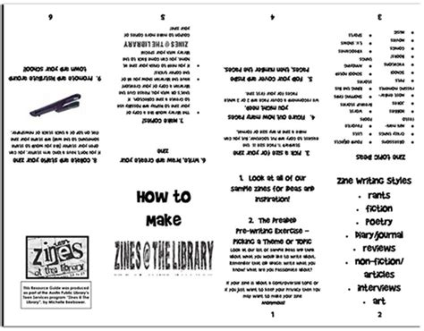 printable zines zine workshop tslac