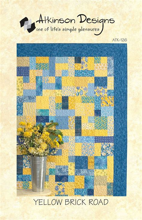Yellow Brick Road Quilt Pattern sale yellow brick road quilt pattern atkinson designs 126