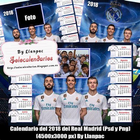 Calendario Real Madrid 2018 Calendarios Para Photoshop Calendario 2018 Real