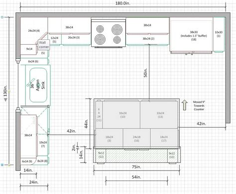 12 x 15 kitchen floor plan is a 10 x15 kitchen too small for u shape kitchens