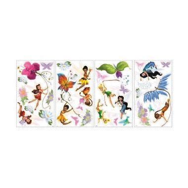 wallpaper dinding female daily jual daily deals disney fairies peel stick wall decals