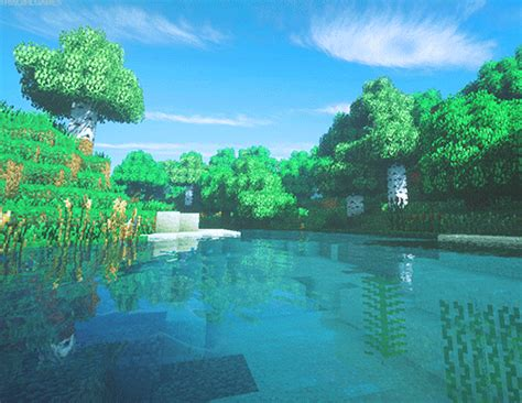 animated gif beautiful landscapes minecraft version