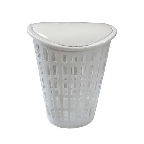 laundry plastic white plastic laundry basket bunnings warehouse