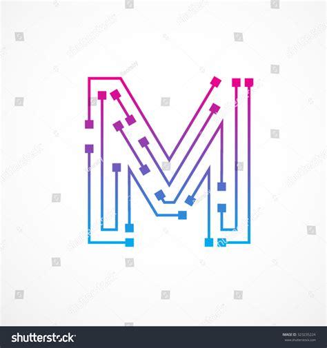 abstract letter logo design
