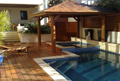 Landscape Timbers Around Pool Timber Decking Melbourne Landscaping