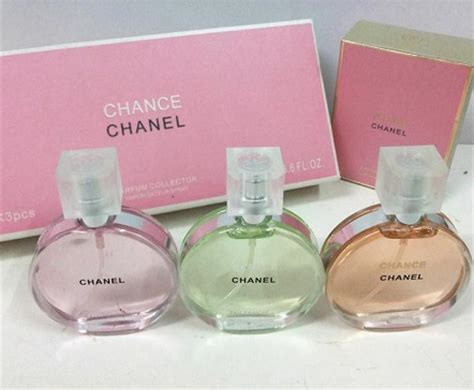 1 Set Chanel Import chanel chance 3 in 1 perfume gift set 20 35 ml each bottle 11street malaysia gift sets