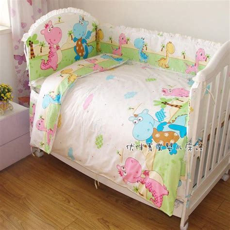 Wholesale Crib Bedding Baby Crib Bedding Sets 100 Cotton Reactive Printing Baby Bedding Set Crib Bed Sheet Set From