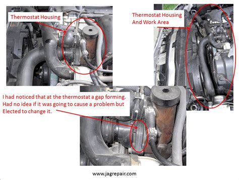 how to replace the thermostat in a 2006 aston martin vanquish s jagrepair com jaguar repair information resource