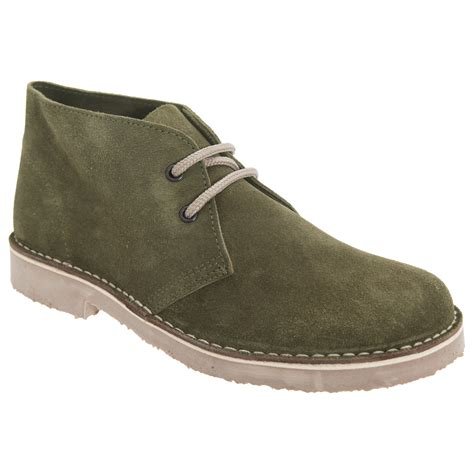 roamers womens real suede toe unlined desert