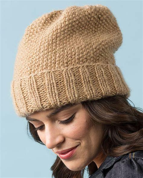 free knitting pattern hat pinterest free knitting pattern for seed stitch slouchy hat ad