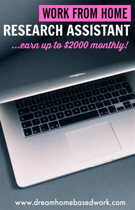Online Research Assistant Work From Home - become a research assistant and earn up to 2 000 monthly best work from home jobs