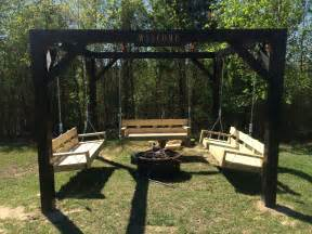 swing backyard ana white fire pit swings diy projects