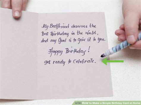 easy birthday cards to make at home 4 ways to make a simple birthday card at home wikihow