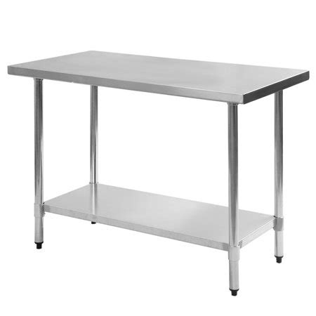 stainless steel restaurant table costway 24 x 48 stainless steel work prep table