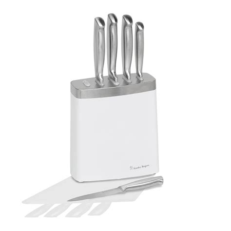 white kitchen knives white steel 6 piece knife block stanley rogers australia
