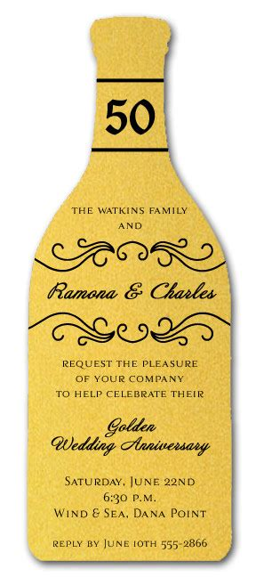 Wine And Gold Template Wedding Invitation Card Sle by Diecut Gold Wine Bottle Invitations