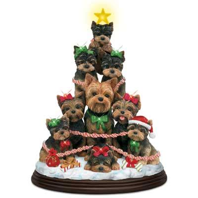 yorkie family christmas tree by mary badenhop the