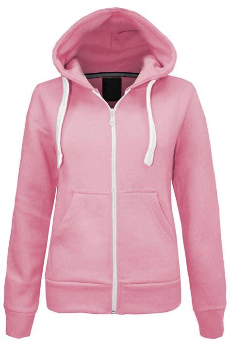 Jaket Sweater Hoodie Smitty Pink womens plain malaika hoodie hoody hooded zip