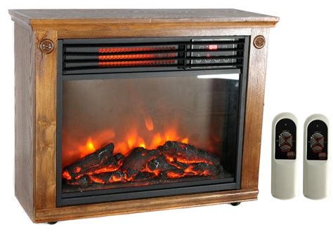 lifesmart electric fireplace new lifesmart ls 1111hh13 1800 sq ft infrared quartz