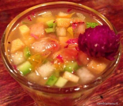 fiori commestibili ricette cambia menu 187 zuppetta di frutta verdura e fiori