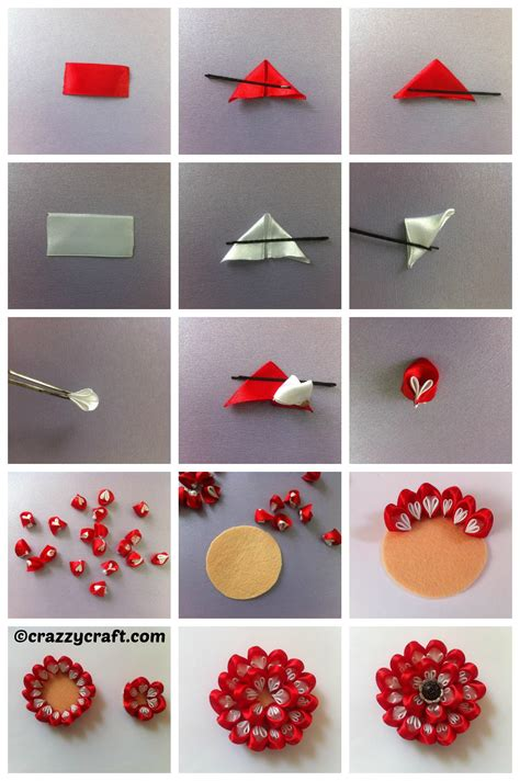 How To Make Handmade Flowers From Ribbon - how to make handmade flowers from ribbon 28 images how