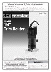 Drill Master 61626 Manuals