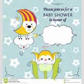 Baby Shower Invitation Card Editable Template Funn Stock Photos ...