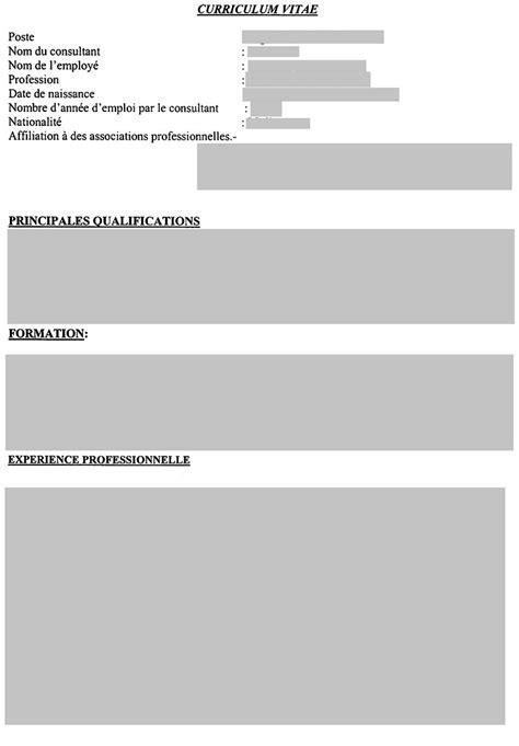 Comment Préparer Un Cv by Modele De Cv Vierge A Imprimer Resume Template
