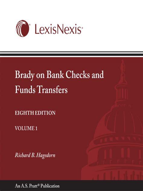 Lexisnexis Background Check Price Brady On Bank Checks And Funds Transfers Lexisnexis Store