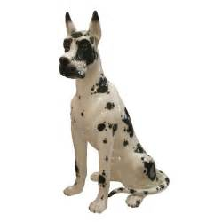 Ceramic harlequin great dane dog statue by daisa 1984 at 1stdibs