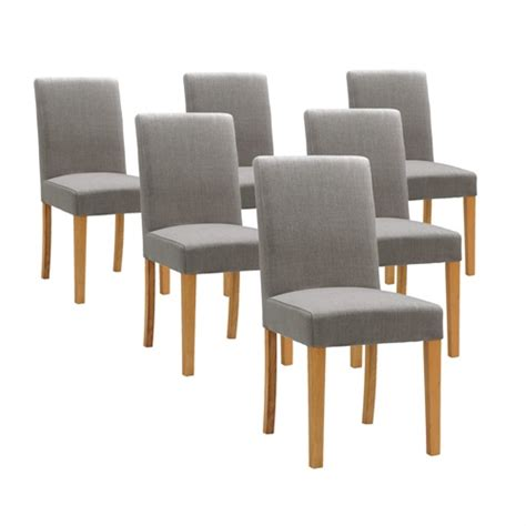 light oak dining room chairs light oak set of 6 grey linen dining chairs 808 096 with free delivery the cotswold company