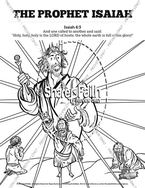 Isaiah 6 Coloring Page by The Prophet Isaiah Sunday School Coloring Pages Sunday