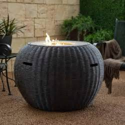 outdoor propane pit bloombety propane fire pit table with rattan design