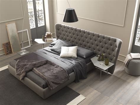 Large Headboard Beds by Bed With Tufted Headboard Selene Large By Bolzan Letti