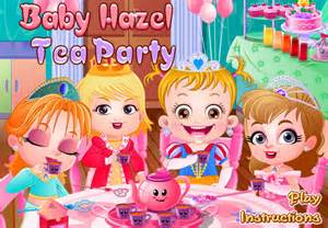 baby hazel tea party game   girl games