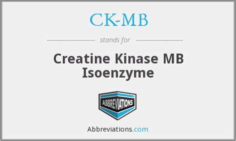 s ck creatine kinase ck mb creatine kinase mb isoenzyme