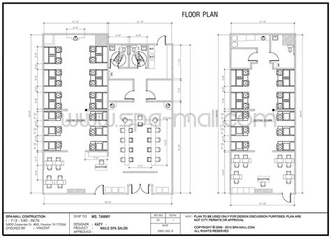 Day Spa Floor Plans by Salon Design Layout